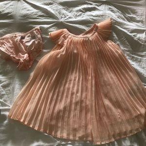 Baby Gap, pink/peach flutter dress, 2T